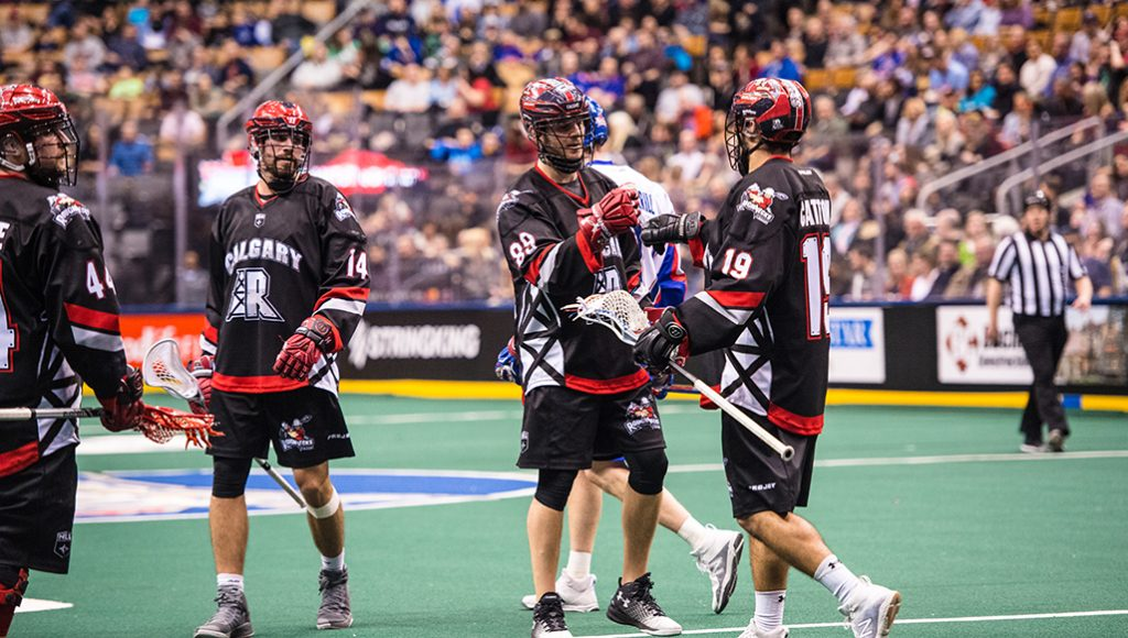 TORONTO, ON  - DEC 16,  2017: National Lacrosse League game between the Toronto Rock and the Calgary Roughnecks, (Photo by Ryan McCullough / NLL)