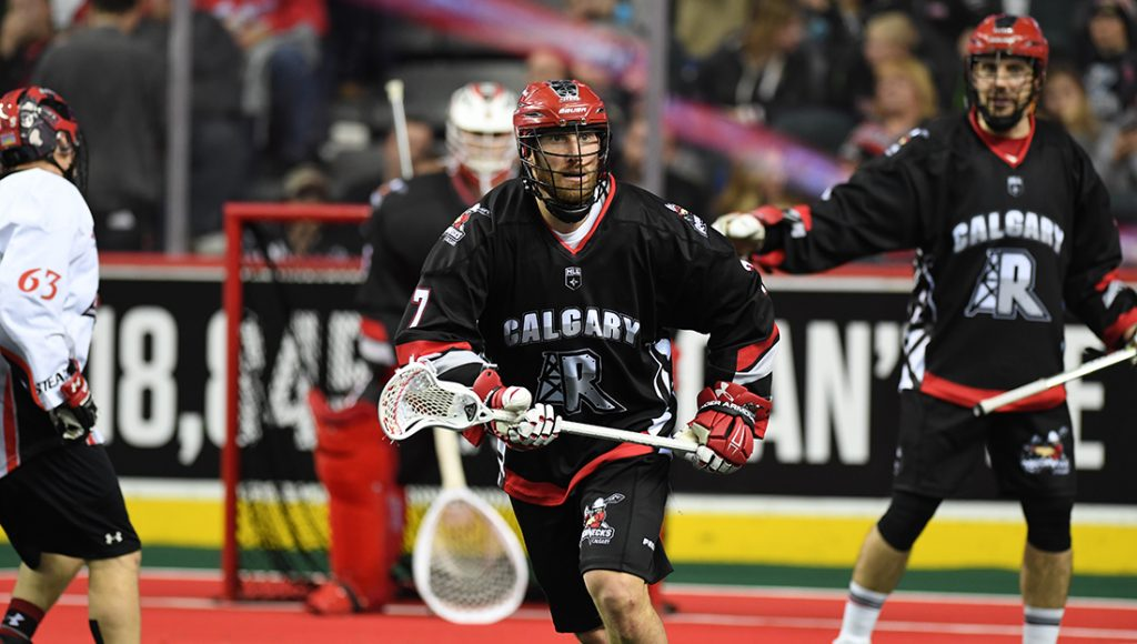 CALGARY, AB - NOVEMBER 18, 2017: A strong pre-season showing earned the Calgary Roughnecks a decisive 13-5 victory over the Vancouver Stealth on Saturday evening at the Scotiabank Saddledome. (Photo by Candice Ward/Calgary Roughnecks)