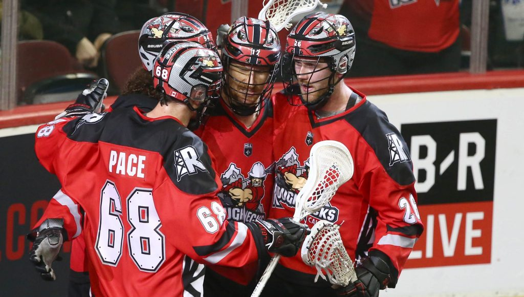 CALGARY, AB - December 28, 2019: Calgary Roughnecks lose 8-7 to Philadelphia Wings on Saturday night at the Saddledome. (Photo by Jim Wells/Calgary Roughnecks)