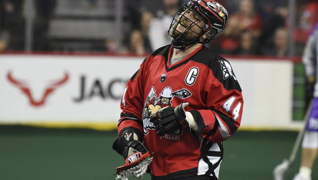 CALGARY, AB - FEBRUARY 29, 2020: The Calgary Roughnecks lost 13-12 to the San Diego Seals at the Scotiabank Saddledome on Saturday night. (Photo by Candice Ward/Calgary Hitmen)